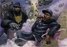Eric B and Rakim, Part of the Ego Strip series by Dan Lish www.danlish.com www.facebook.com  http://danlishartworks.bigcartel.com/