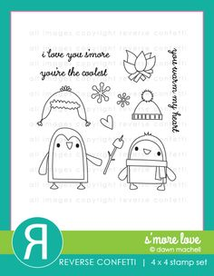 Reverse Confetti Jan 2016 stamp release: S'More Love