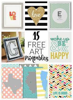 15 Free Art Printables