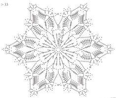 Tina's handicraft : 27 patterns for crochet motif Crochet Snowflake Pattern, Crochet Stars, Crochet Doily Patterns, Crochet Snowflakes, Crochet Mandala, Crochet Diagram, Crochet Doilies, Crochet Flowers, Crochet Ball