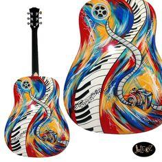 Custom Guitars For Sale Acoustic Guitar Tattoo, Strat Guitar, Acoustic Guitar Case, Guitar Art, Fender Guitars, Guitar Songs, Cool Guitar, Custom Electric Guitars, Custom Guitars