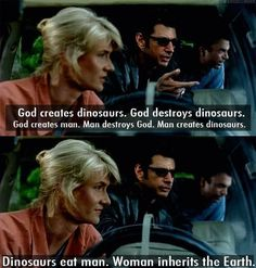 Fave quotes from Jurassic Park