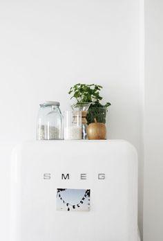 white vintage SMEG