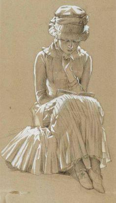 Albert Edelfelt - A Girl Reading