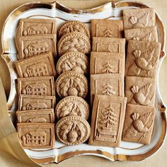 Speculaas Cookies - we had these in Belgium. Delicious!