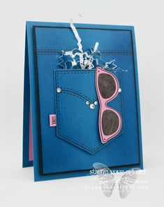 denim pocket card Archives - Stamp Your Art Out! 18th Birthday Cards, Birthday Cards For Boys, Handmade Birthday Cards, Greeting Cards Handmade, Teenage Girl Birthday, Teenager Birthday, Pocket Full Of Sunshine, Money Cards, Stampinup