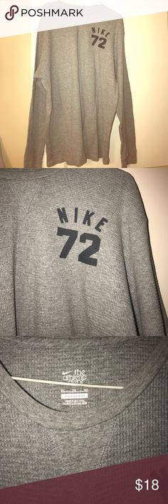 Nike long sleeve thermal,fitted Gently worn with navy blue letters as shown in photo Nike Shirts Tees - Long Sleeve