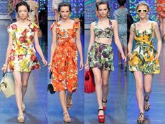 Dolce & Gabbana Spring 2012 Colletion: Fruit & Floral Prints #FRUITHERAPY #FRUTENDSbyLIZZO #LIZZOusa
