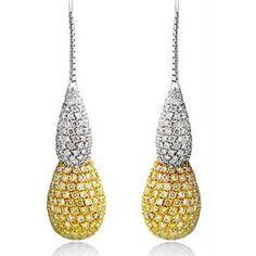 White and Yellow diamonds