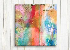 Abstract art printed on canvas  home and living  by hayagold