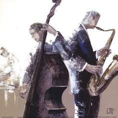 Jazz Band by Bernard Ott art print