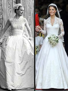 Catherine Middleton's Wedding Dress: Was It Inspired by Grace Kelly? – Catherine Middleton's Wedding Dress: Was It Inspired by Grace Kelly? Royal Brides, Royal Weddings, Alexander Mcqueen Wedding Dresses, Grace Kelly Wedding, Bridal Gowns, Wedding Gowns, Kate Middleton Wedding Dress, Kate Dress, Next Wedding