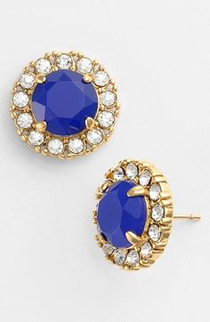 kate spade new york 'secret garden' mixed stone stud earrings available at #Nordstrom How pretty... LOVE THE PINK ONES
