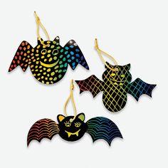 Magic Color Scratch Bat Ornaments - OrientalTrading.com  Camp Bat craft