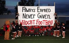 Football Run through sign - this weeks run through sign.GO CATS! Football Spirit Signs, Football Game Signs, Football Cheer, Sports Signs, Football Posters, Football Season, High School Football Games, High School Cheer, Football Moms