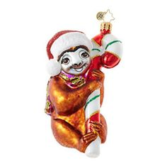 Christopher Radko A REAL SLOW MOVER Sloth Ornament New 2017 for sale  FREE USA Shipping