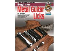 New Progressive Beginner Metal Guitar Licks Book, CD & DVD - BC Wholesalers Covers all the essentials of both left and right hand technique and contains lots of great sounding licks and solos Electric Guitar Accessories, Left And Right Handed, Guitar For Beginners, Electric Guitars, Guitar Lessons, Essentials, Metal, Cover, Books