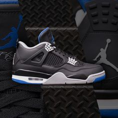 Off to the races. The Jordan Retro 4 'Alternate Motorsport' is available now