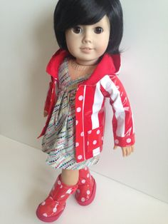 Spring Shower Rain Coat for American Girl Dolls by MicheFinds, $18.50