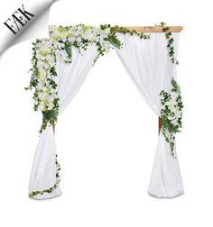 FÆK | Flowers Gatsby for wedding arch wood Artikelnummer: 7014 & 7614 Fake flowers - white - artificiële bloemen - wit - rental - huren verhuur - events - evenementen - party - feest - decoratie