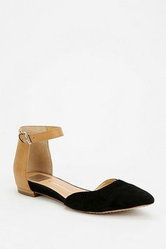 Urban Outfitters Dolce Vita Ankle-Strap D'Orsay Flats