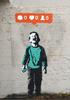 Banksy Street Art or Graffiti depends on your point of view. People just their popularity on how many likes they have. Banksy Graffiti, Street Art Banksy, Arte Banksy, Banksy Canvas, Bansky, Tableau Pop Art, Urbane Kunst, Grand Art, Street Signs