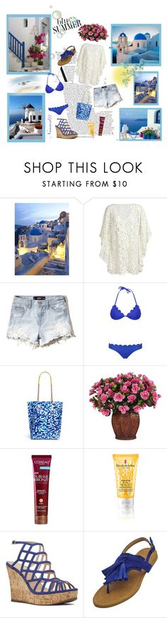 """""""Summer in my country..."""" by nannerl27forever ❤ liked on Polyvore featuring Hollister Co., Bondi Born, Sophia Webster, L'Oréal Paris, Elizabeth Arden, Nine West and country"""