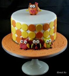 Eulen Geburtstagstorte - Owl cake - Astrid Ro's Werkstatt