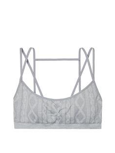 c521dbc85c Seamless Cableknit Bralette - The Victoria s Secret Bralette Collection - Victoria s  Secret Sportswear