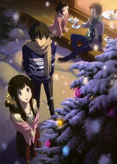 Let's spread Hyouka to all over the world with us to get an anime stuff you want free. Fanart Manga, Film Manga, Manga Art, Manga Anime, Fanarts Anime, Anime Characters, Chibi, Tamako Love Story, Kyoto Animation