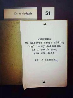 Dr. Hedgehog