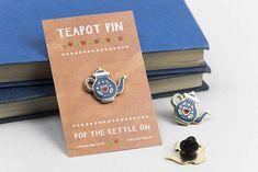 Teapot Enamel Pin | Lapel Pin Teapot Badge | Enamel Pin