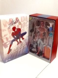 Amazing Spiderman 2 Spiderman Sideshow Exclusive Hot Toys Signed by Stan Lee New #HotToys
