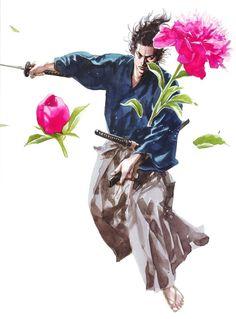Illustration | 宮本武蔵 / Vagabond バガボンド | Inoue Takehiko     #InoueTakehiko #井上雄彦