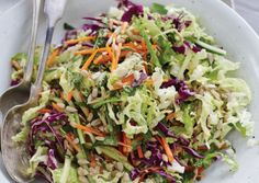 Orange Sunflower Slaw   Don't be fooled by the name. This delightful blend of orange, ginger, mint, and fresh vegetables is so much more than a cabbage-y side salad.