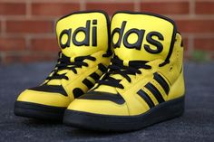 Jeremy Scott/Adidas Originals JS Instict Hi Black/Yellow | Kicks ...