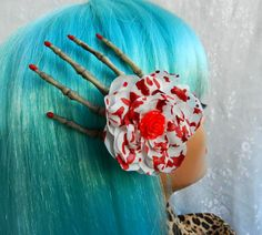 Large Skeleton Hand Hair Clip Fascinator with by AbbiesAnchor, $12.00