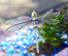 Swarovski Crystal Dragonfly Sun Catcher in Fuchsia Pink   Robyn ...