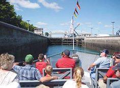 Soo Locks Boat Tours, Sault Ste. Marie, Michigan.