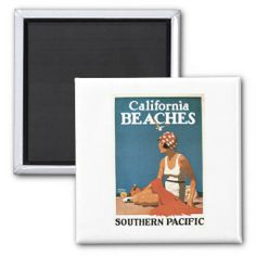 ==>>Big Save on          	Vintage California Beaches CA Travel Poster Art Refrigerator Magnets           	Vintage California Beaches CA Travel Poster Art Refrigerator Magnets so please read the important details before your purchasing anyway here is the best buyReview          	Vintage Califor...Cleck Hot Deals >>> http://www.zazzle.com/vintage_california_beaches_ca_travel_poster_art_magnet-147495521574748785?rf=238627982471231924&zbar=1&tc=terrest