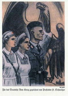 Nazi poster for the German Red Cross