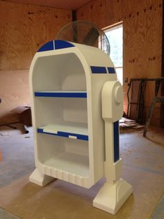 Star Wars, R2D2, Droid styled bookshelf, storage unit by WoodCurve on Etsy