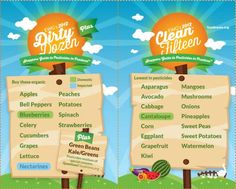 Guide To Buying Organic - The Dirty Dozen and Clean Fifteen | MomOnTimeout.com