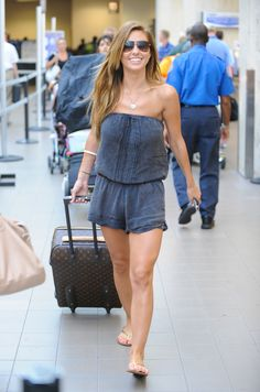 Audrina Patridge travels in style in the Gypsy 05 Nelly Silk Tube Jumper!