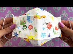 COMO HACER CUBREBOCAS - Mascarillas de tela / Make Fabric Face Mask at Home Costura DIY - YouTube Easy Face Masks, Diy Face Mask, Mascara 3d, Costura Diy, Diy Mask, Fashion Face Mask, Baby Sewing, Scrunchies, Sewing Patterns