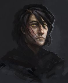 Sketch of the character from Agnieszka Hałas's books (which I highly recommend to all polish fantasy fans out there). Character belongs to Agnieszk. Fantasy Male, High Fantasy, Fantasy Rpg, Fantasy Portraits, Character Portraits, Dnd Characters, Fantasy Characters, Fantasy Inspiration, Character Inspiration