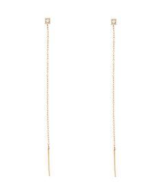 Lizzie Mandler - White Diamond Stud Threads - $575