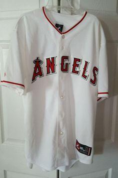 Anaheim Angels Jersey Sewn  Shirt L.Adult MLB Baseball Los Angeles NWT.Majestic #Majestic #AnaheimAngels