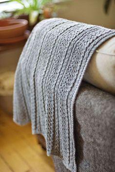 Blanket to knit. Brooklyn Tweed (of course). 6 skeins of Sweatshirt