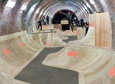 The Skate Tunnel, England Skateboard Photos, Skateboard Ramps, Skateboard Design, Bmx Ramps, Scooter Ramps, Halle, Backyard Skatepark, Skate Ramp, Best Bmx